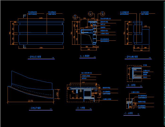 CAD家具各 种柜子设计图纸