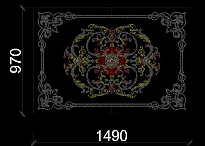 石材瓷砖水刀拼花大理石图案花纹样cad图库室内地砖拼花设计素材