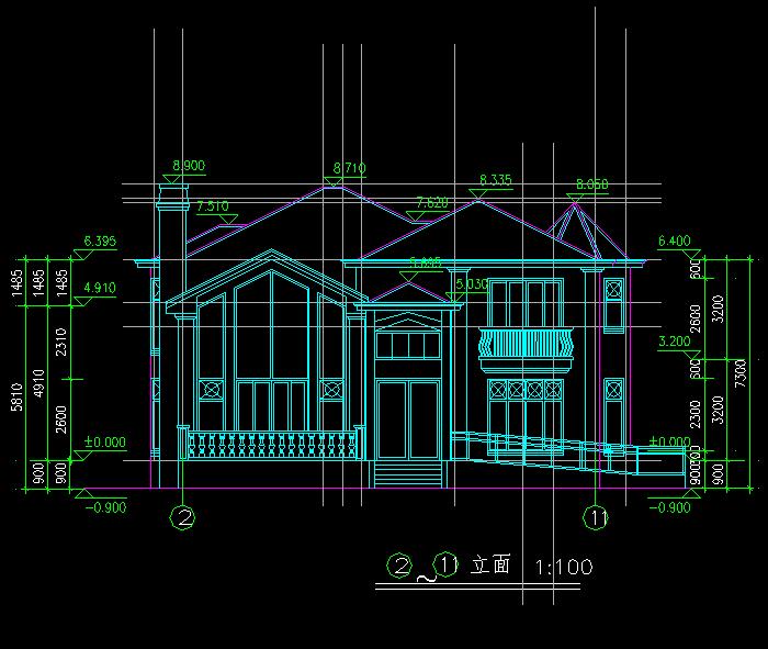 欧式私人别墅施工图,三层别墅的全套建施图,以及山地别墅住宅方案图.