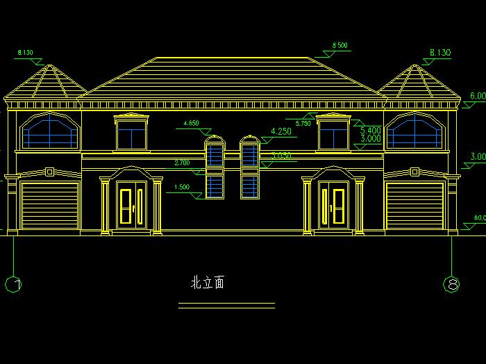 图纸中包含的有欧式别墅建筑图纸,欧式私人别墅施工图,三层别墅的全套