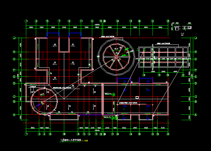 某商业综合楼施工设计CAD图纸