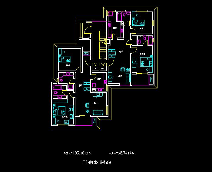 某单身公寓建筑结构设计CAD施工图